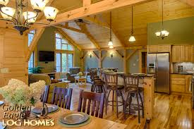 Completely Open Floor Plans by Golden Eagle Log Homes Exposed Beam Timber Frame Construction