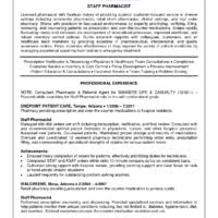 pharmacy resume template brilliant pharmacist resume template and samples for job