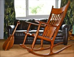 furniture vintage wooden rocking chair design featuring wooden