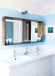 Frame Bathroom Mirror Diy Bathroom Mirror Frame For 10 Blue Wood Stain Mirror
