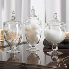 Bathroom Jars With Lids Ksp Spa Apothecary Jars Set Of 3 Kitchen Stuff Plus