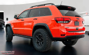 jeep renegade trailhawk lifted jeep grand cherokee trailhawk ii concept rear three quarters view