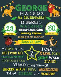 lion king birthday board