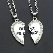 gold friend necklace images Wholesale 2 neaklaces for lovers couples friends with separated jpg