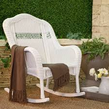 White Resin Wicker Patio Furniture - coral coast casco bay resin wicker rocking chair walmart com