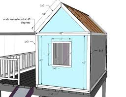 ana white build a playhouse gable end walls free and easy diy