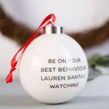 personalised christmas baubles gettingpersonal co uk