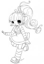 chibi coloring pages bestofcoloring com