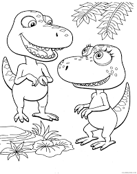 dinosaur train coloring pages buddy and annie coloring4free
