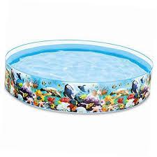 intex plastic snapset 8ft kiddie swimming pool majestic animal