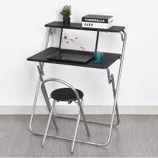 Fold Up Desk Chair Furniturer Foldable Computer Desk And Chair Set Magic Panel Space