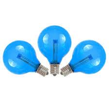 blue led g40 glass globe light bulbs novelty lights