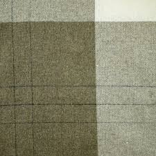 Plaid Home Decor Fabric 1 Yard Wool Plaid Tan Cream Brown Plain Weave Wide Fashion Or