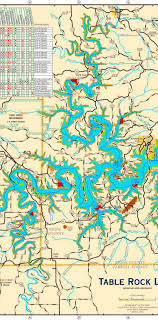 table rock lake map interesting table rock lake map plan contemporary best image