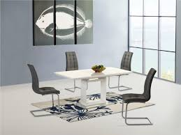 White Gloss Living Room Furniture Uk New White High Gloss Extending Dining Table And 4 Grey Chairs