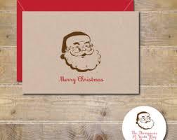 santa christmas card etsy