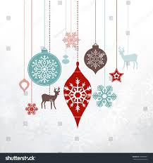 decorations ornaments silver frosty background stock