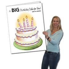 big birthday cards 2 x3 birthday cake birthday card w envelope