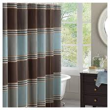 Target Striped Shower Curtain Bradley Striped Jacquard Shower Curtain Brown Blue Target