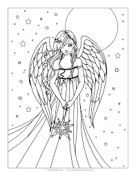 free angel coloring page by molly harrison fantasy art molly