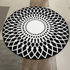Modern Black Rug Modern Geometry Carpet Black Rug Carpets For Living