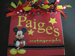 personalized autograph books disney world augotraph books