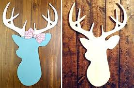 groopdealz unfinished wood deer cutout