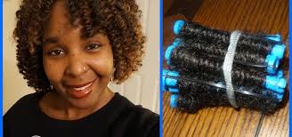 stranded rods hairstyle how to how to curl marley hair on perm rods start to finish a