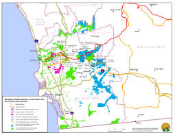 San Diego State Map by Sunrise Powerlink