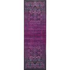 Lilac Runner Rug Unique Loom Istanbul Lilac 3 Ft X 9 Ft 10 In Runner Rug 3134956