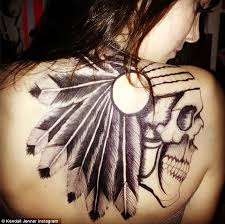 kendall jenner shows off shocking back tattoo but it u0027s only