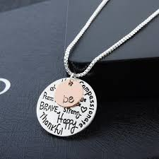 inspirational necklace two tone be inspirational necklace graffiti charm pendant necklace
