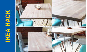 Folding Table Ikea by Awesome Ikea Hack Of The Week An Apartment Sized Dining Table
