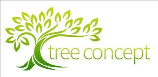 green tree logos vector graphic 01 vector logo free