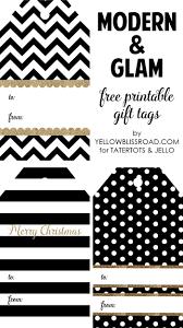happy holidays modern printable gift tag set tatertots and jello