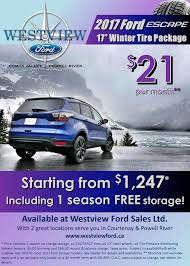 ford escape winter safety packages