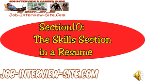 What Goes In The Profile Section Of A Resume Resume Skills Section How To Write A Resume Skills Section Youtube