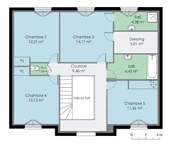 plan maison etage 4 chambres 1 bureau maison francilienne 2 plans maison plans et maisons