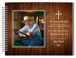 personalized funeral guest book custom funeral guestbooks personalized funeral guest sign in book