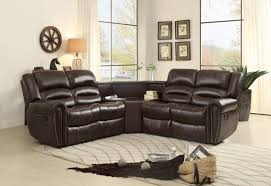 Sectional Recliner Sofa With Cup Holders Sofa Engaging Small Sectional Sofa With Recliner Cup