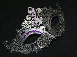 purple masquerade mask silver and purple metal masquerade mask