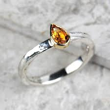 november birthstone solid gold and silver citrine birthstone alice ring by alison