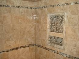 Bathroom Glass Tile Designs by I Like The Stone Tile With Glass Tile Accents U0026 Niche Also Want A