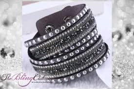crystal leather wrap bracelet images Vegan leather wrap bracelets catalog bling jewelry clothing more jpg