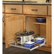 Kitchen Cabinets Slide Out Shelves Shop Rev A Shelf 17 5 In W X 7 In H Metal 1 Tier Pull Out Cabinet