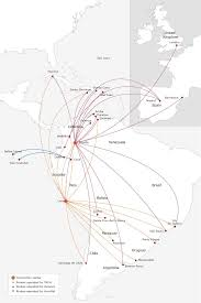 American Route Map by Avianca Columbia Alh Sa Avianca Av Pinterest South