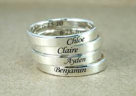 sterling silver name rings custom name ring band ring sterling silver personalized