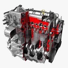 4 cylinder engine car 4 cylinder engine cutaway 3d cgtrader