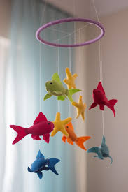 Fish Nursery Decor Fish Baby Mobile Baby Mobile Felt Nursery Mobile Fish Mobile