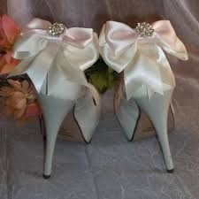 Light Pink Wedding Shoes Satin Dresses Wedding Shoe Clips 2230488 Weddbook